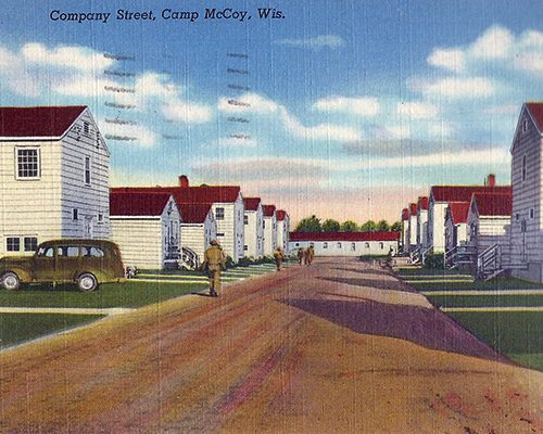 Camp McCoy shows the typical World War II camp in Wisconsin. Truax Field had a similar military layout.