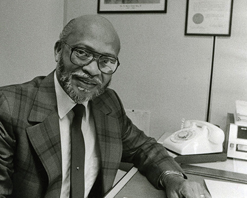 The Rev. James C. Wright, shown here in 1983, was the Madison Equal Opportunities Commission's first executive director.