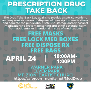 Safe Communities - Med Drop event